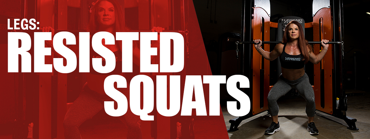 Quick Full Body Workout on the SelectEDGE Functional Trainer - Legs: Resisted Squats