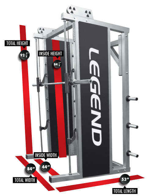 3124 Smith Machine Dimensions