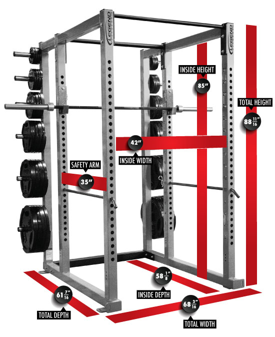 3133 Performance Series Power Cage Dimensions