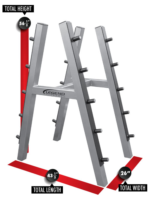 3149 Ten Barbell Rack