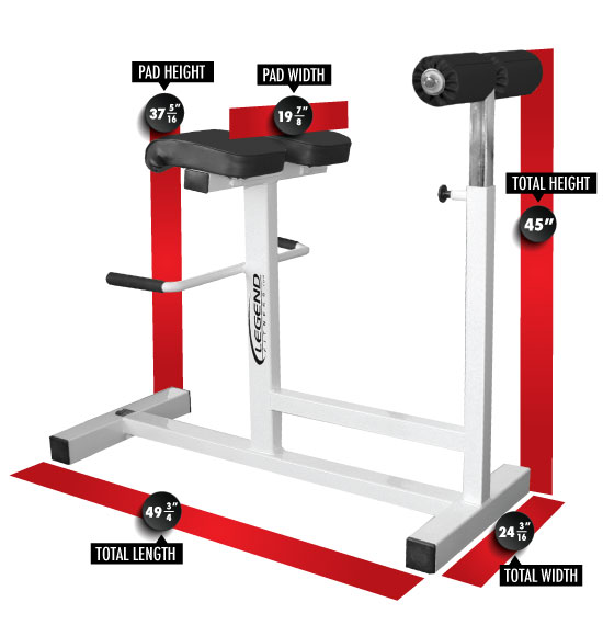 3151 Horizontal Hyperextension Dimensions