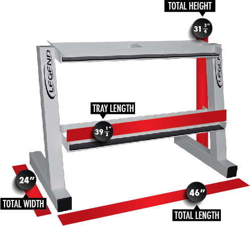 3170 6 Pair Hex Head Dumbbell Rack Dimensions