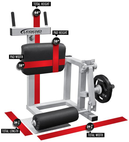 Plate-Loaded Standing Leg Curl - Legend Fitness Legend Fitness