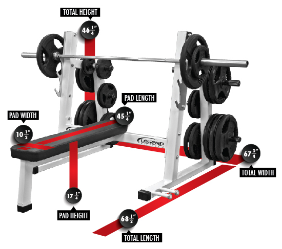 3240 PRO SERIES Olympic Flat Bench Dimensions