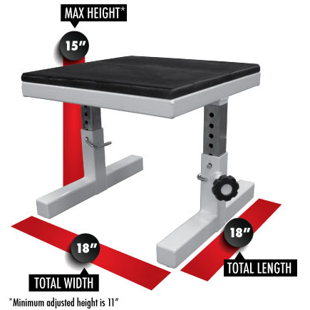 3254 Adjustable Squat Seat Dimensions