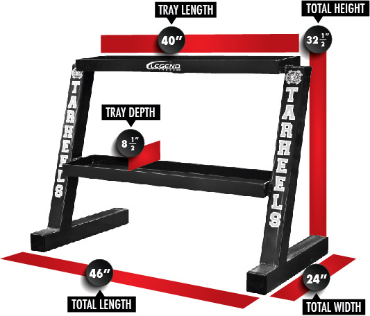 3257 Short Kettlebell Rack Dimensions