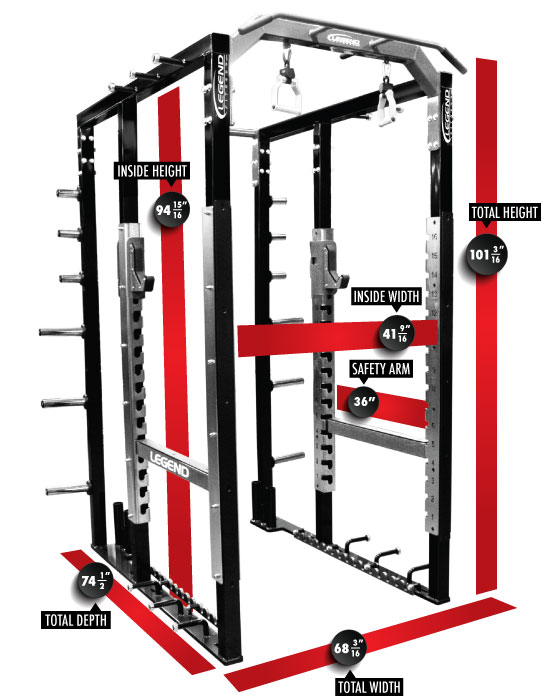 3263 PRO SERIES Modular Power Cage Dimensions