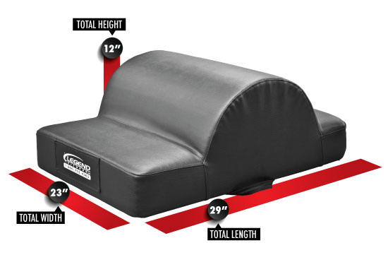 3350 Partner Glute/Ham Developer GHD Dimensions