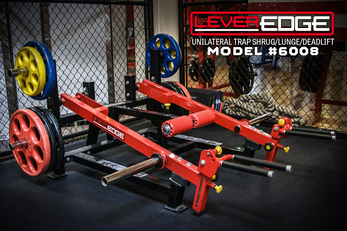 6008 The LeverEDGE Unilateral Trap Shrug/Lunge/Deadlift