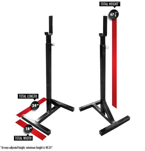 7005 Squat Stands Dimensions