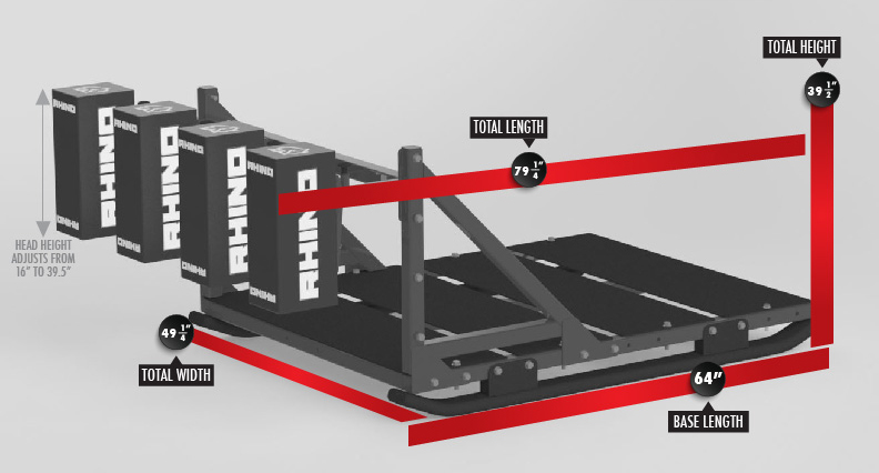 7021 Raider Scrum Sled Dimensions