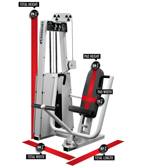 900 Chest Press Dimensions