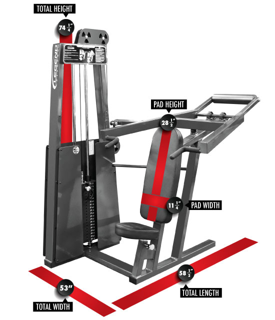 902 Shoulder Press Dimensions