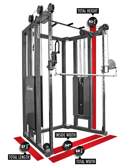 953 Functional Trainer Dimensions