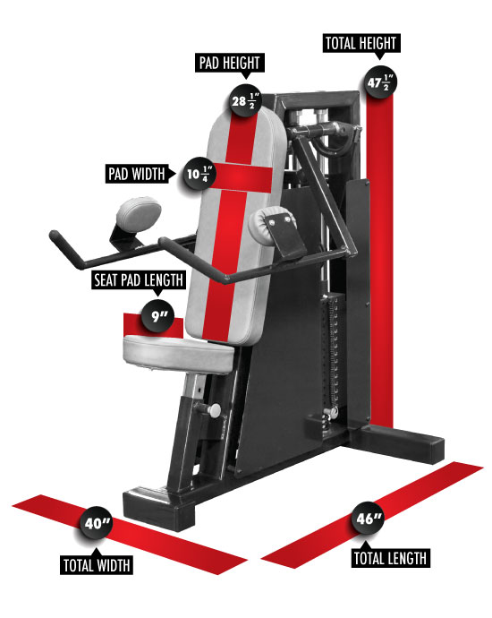 962 Lateral Raise Dimensions