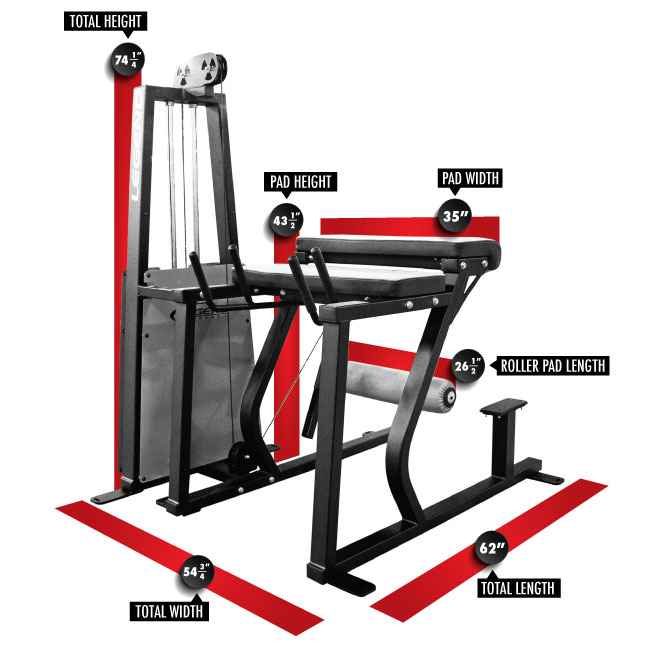 974 Reverse Back Extension Dimensions