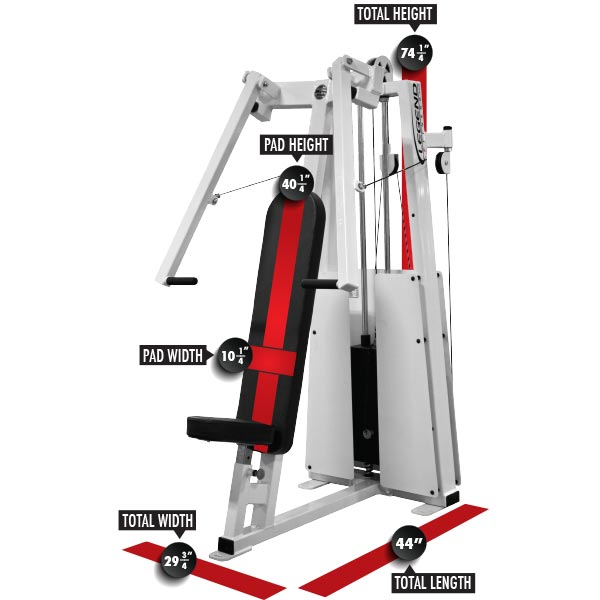 991 Unilateral Chest Press Dimensions