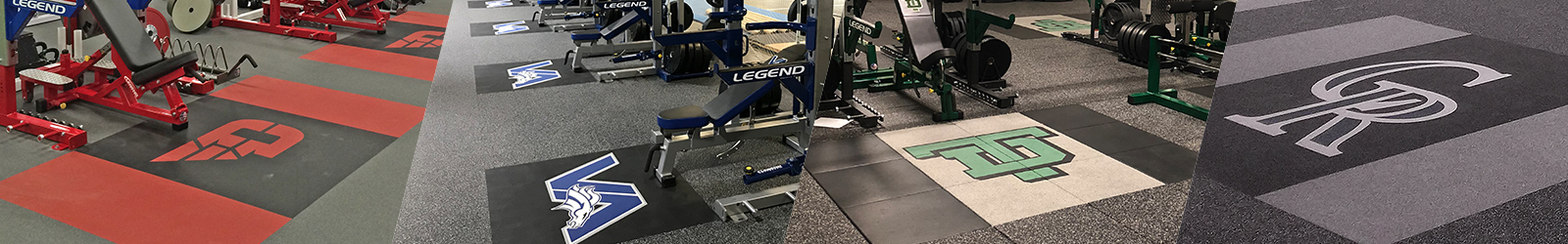 Inlaid Rubber Platforms from Legend Fitness