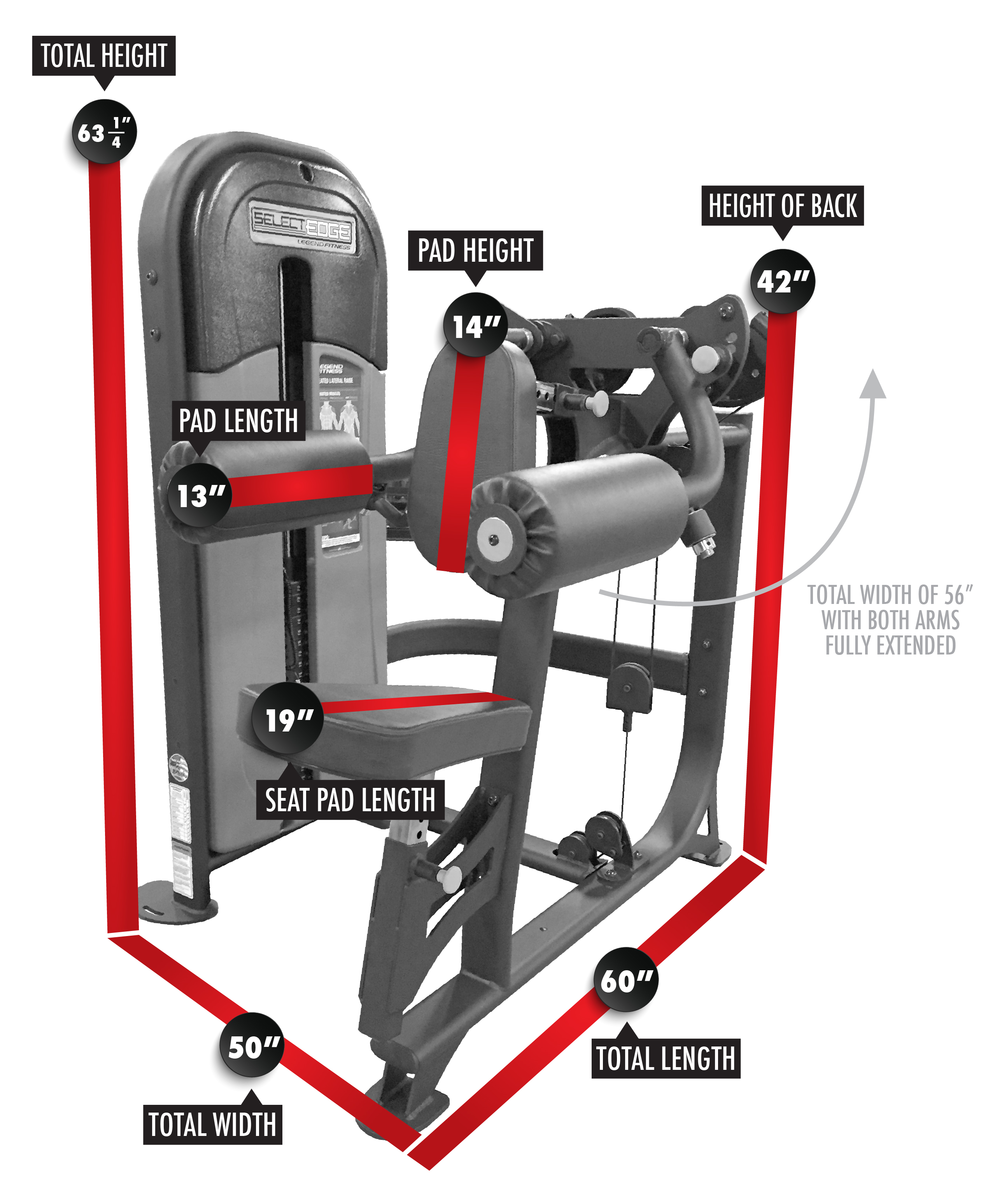 1112 SelectEDGE Seated Lateral Raise