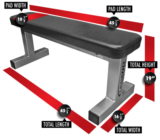 Utility Flat Bench 3100 Dimensions
