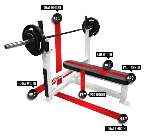 3105 Olympic Flat Bench Dimensions