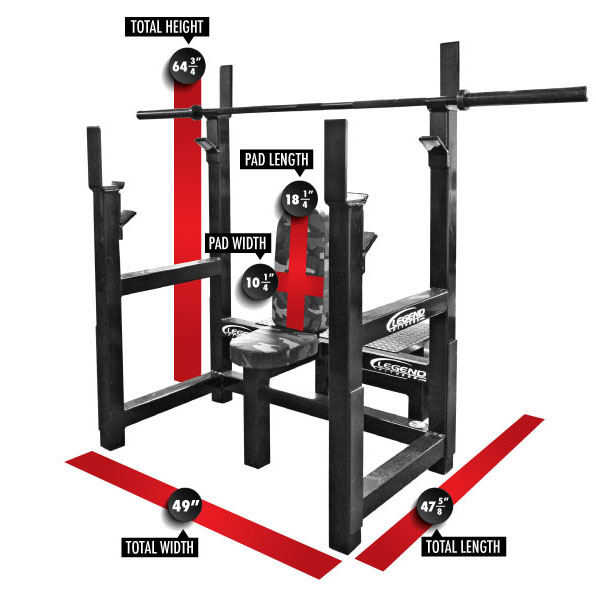 3108 Olympic Shoulder Bench Dimensions