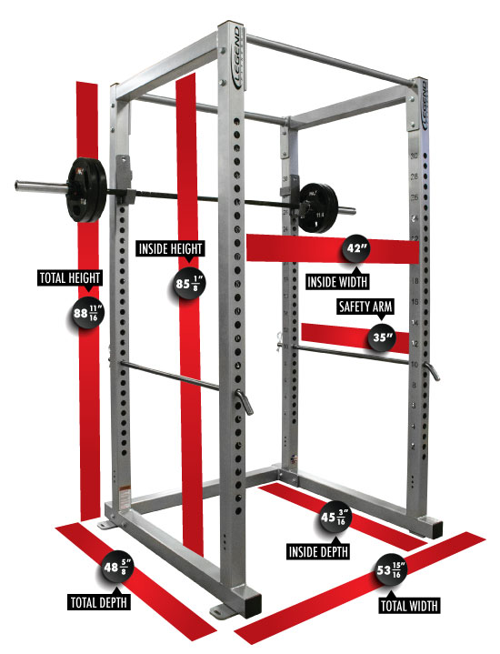 3121 Performance Series Power Rack Dimensions
