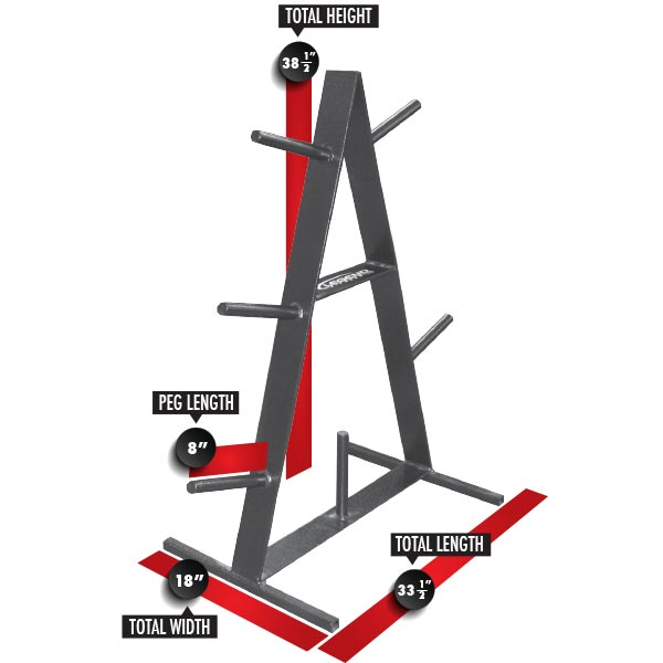 3126 Olympic A-Frame Plateholder Dimensions