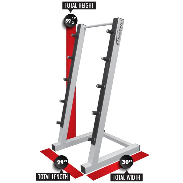 3174 Five Barbell Rack Dimensions