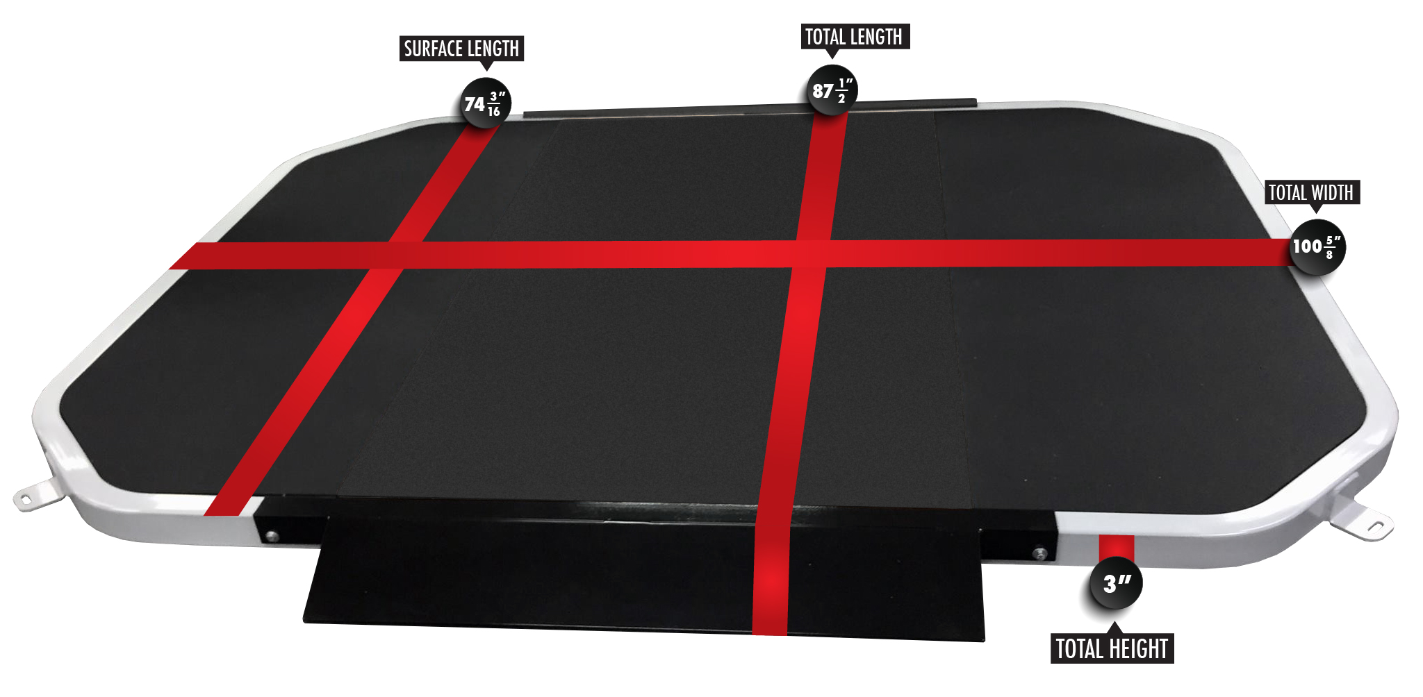All-Rubber Lifting Platform (6' x 8') 3194-R