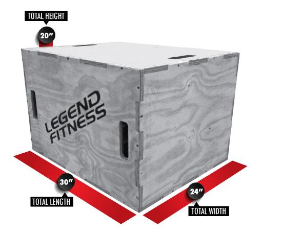 Wood Plyo Box 3-in-1 3210-3N1
