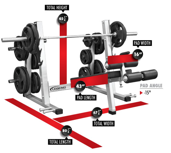 3243 PRO SERIES Olympic Decline Bench Dimensions