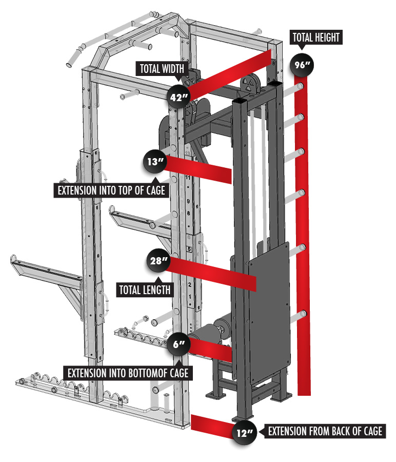 3268-F1 Fusion 1 Inside Lat Pulldown/Seated Row Module