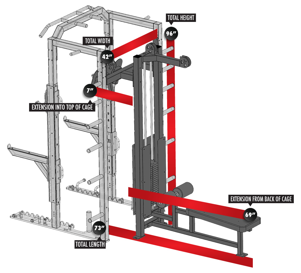 Fusion 2 Outside Lat Pulldown/Seated Row Module