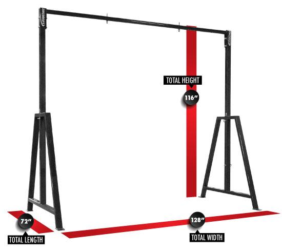 3905 Suspension Training Rig Dimensions