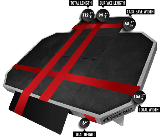 7007 VibePlate Platform Dimensions