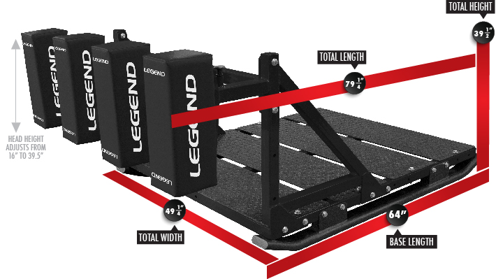 Legend Rugby Performance Scrum Machine Dimensions