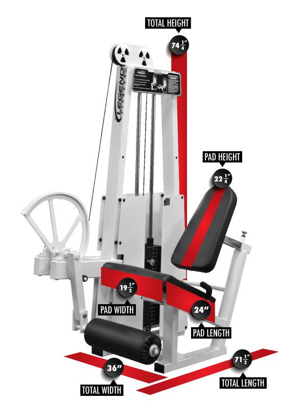 911 Leg Extension Dimensions
