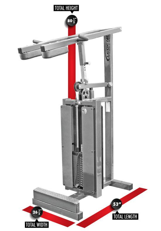 915 Standing Calf Dimensions