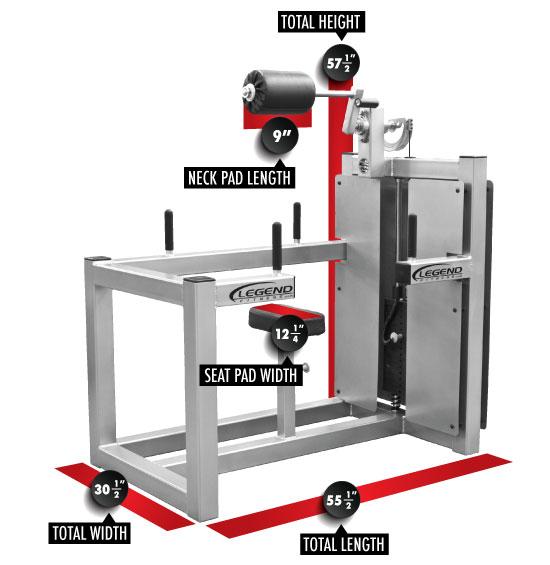 943 Neck Machine Dimensions