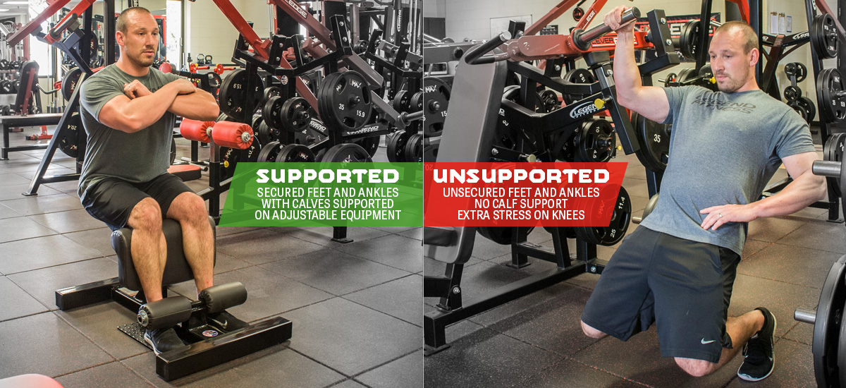 Sissy Squat Supported vs Unsupported