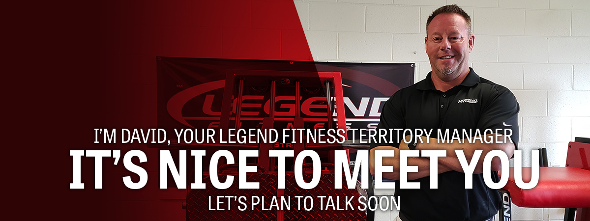Legend Fitness Territory Manager David Ball
